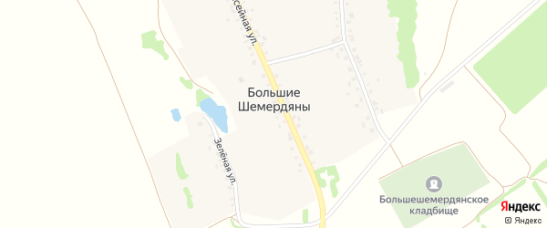 Улица Победы на карте села Большие Шемердяны с номерами домов
