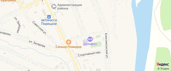 Школьный переулок на карте Порецкого села с номерами домов