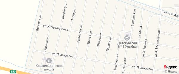 3-я улица на карте села Кошкельды с номерами домов