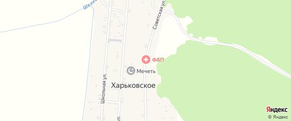 Советская улица на карте Харьковского села с номерами домов