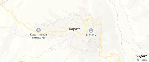 Карта села Караты в Дагестане с улицами и номерами домов