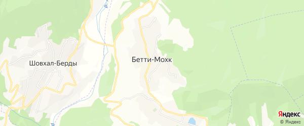 Карта села Бетти-Мохк в Чечне с улицами и номерами домов