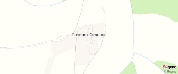 Хуторская улица на карте деревни Починка Сидорова с номерами домов