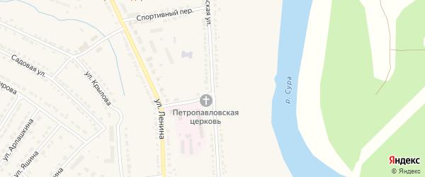Комсомольская улица на карте Порецкого села с номерами домов