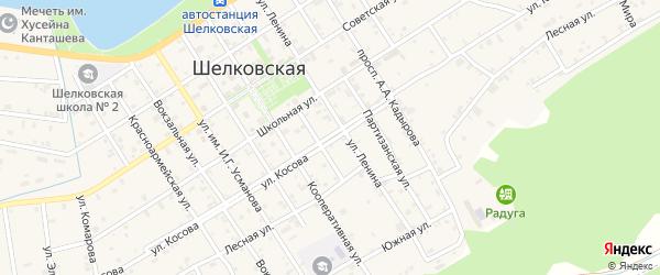 Улица Косова на карте Шелковской станицы с номерами домов