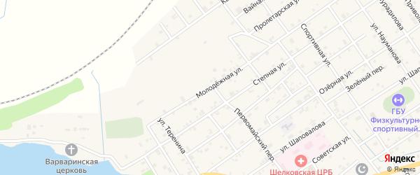 Молодежная улица на карте Шелковской станицы с номерами домов