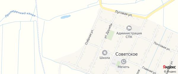 Озерная улица на карте Советского села с номерами домов