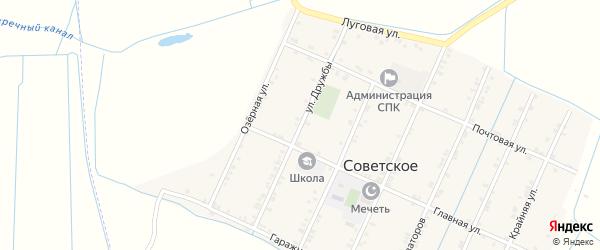 Улица Дружбы на карте Советского села с номерами домов