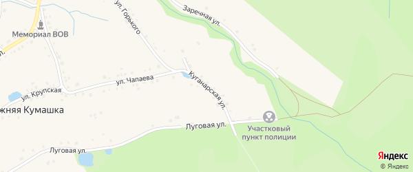 Куганарская улица на карте села Нижней Кумашки с номерами домов