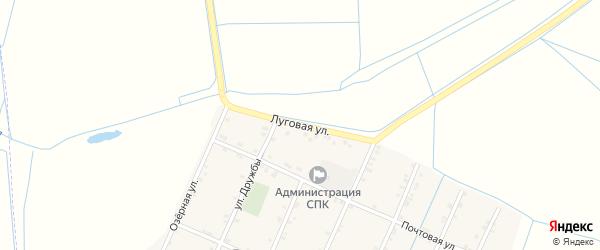 Луговая улица на карте Советского села с номерами домов