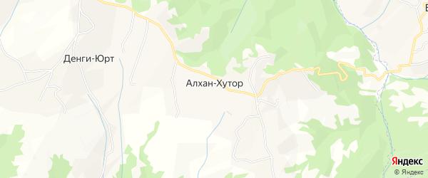 Карта хутора Алхана-Хутора в Чечне с улицами и номерами домов