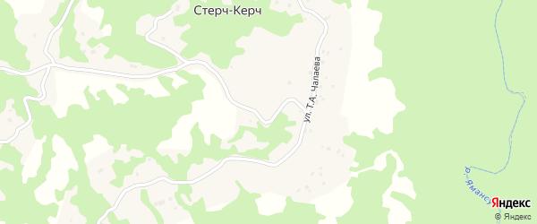 Окраинная улица на карте села Стерча-Керча с номерами домов