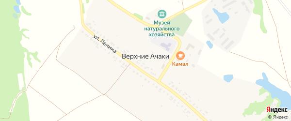 Прудовая улица на карте деревни Верхние Ачаки с номерами домов