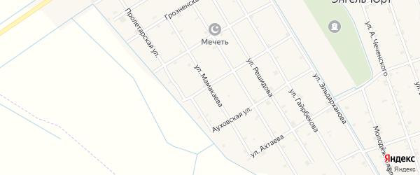 Улица Мамакаева на карте села Энгель-юрт с номерами домов