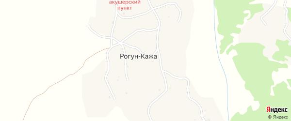 Центральная улица на карте села Ишхой-хутора с номерами домов
