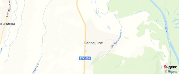 Карта Напольновского сельского поселения республики Чувашия с районами, улицами и номерами домов