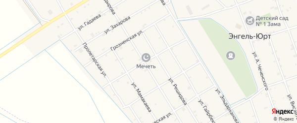 Гудермесская улица на карте села Энгель-юрт с номерами домов