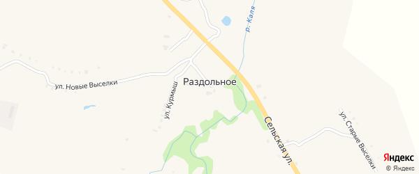 Улица Курмыш на карте Раздольного села с номерами домов