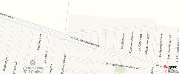 4-я улица на карте села Кошкельды с номерами домов