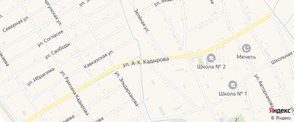 Улица Кадырова на карте села Энгель-юрт с номерами домов