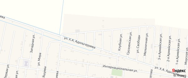 Бригадная 3-я улица на карте села Кошкельды с номерами домов