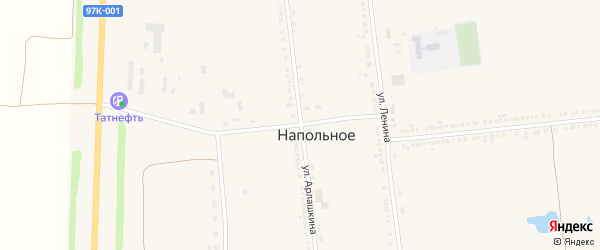 Улица Арлашкина на карте Напольного села с номерами домов