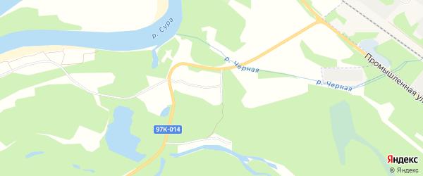 СТ Разлив на карте Шумерлинского сельского поселения с номерами домов