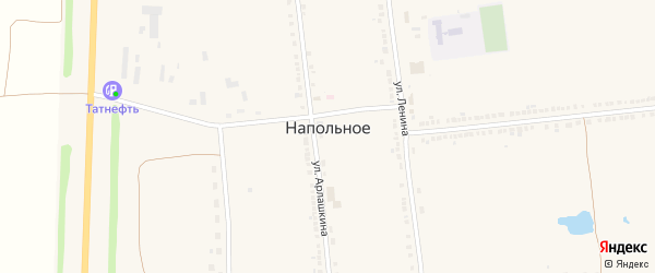 Пролетарская улица на карте Напольного села с номерами домов