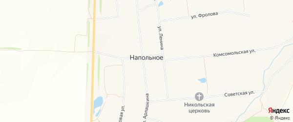 Карта Напольного села в Чувашии с улицами и номерами домов