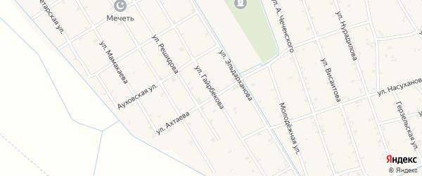 Улица Гайрбекова на карте села Энгель-юрт с номерами домов