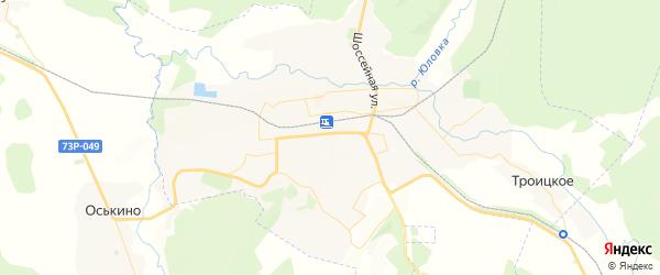 Карта Инзы с районами, улицами и номерами домов