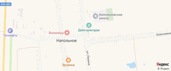 Улица Ленина на карте Напольного села с номерами домов