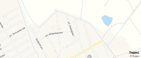 Улица Хамидова на карте села Энгель-юрт с номерами домов