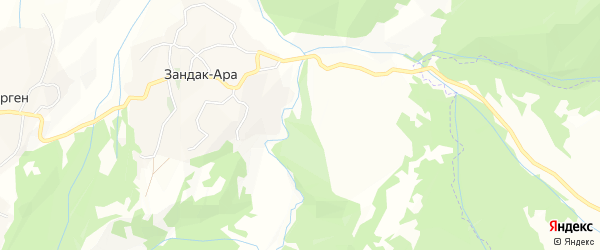 Карта села Ца-Гордали в Чечне с улицами и номерами домов