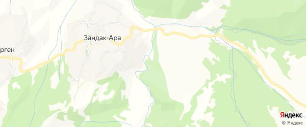 Карта села Денги-Юрт в Чечне с улицами и номерами домов