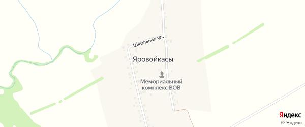 Молодежная улица на карте деревни Яровойкас с номерами домов