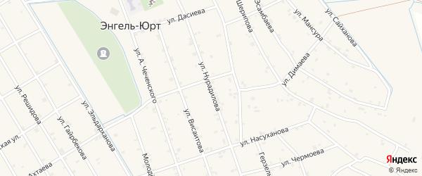 Улица Нурадилова на карте села Энгель-юрт с номерами домов
