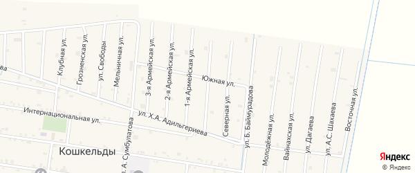 Морская улица на карте села Кошкельды с номерами домов