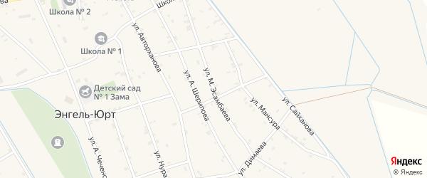 Улица М.Эсамбаева на карте села Энгель-юрт с номерами домов