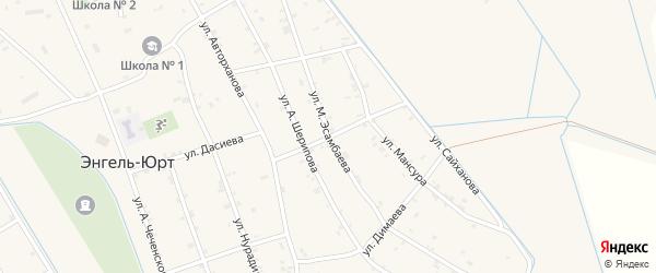 Дагестанская улица на карте села Энгель-юрт с номерами домов