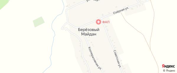 Советская улица на карте села Березового Майдана с номерами домов