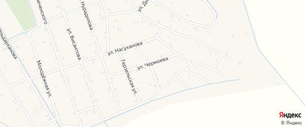 Улица Чермоева на карте села Энгель-юрт с номерами домов