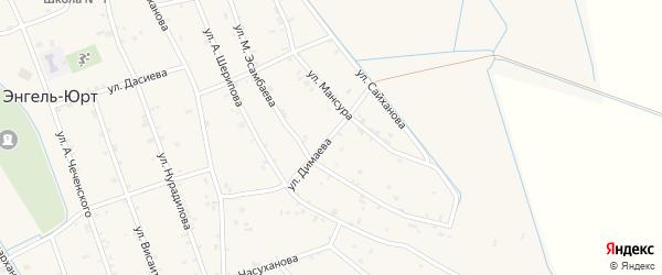 Улица Димаева на карте села Энгель-юрт с номерами домов