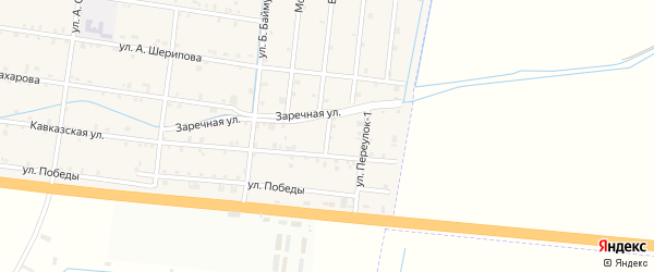 2-й переулок на карте села Кошкельды с номерами домов