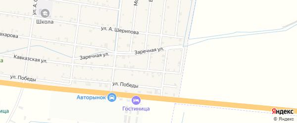 Второй переулок на карте села Мелчхи с номерами домов