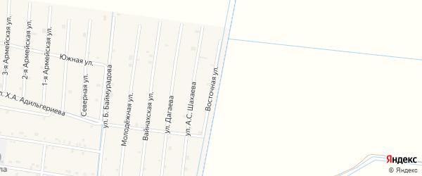 Восточная улица на карте села Кошкельды с номерами домов