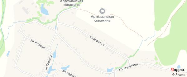 Садовая улица на карте деревни Шумерли с номерами домов