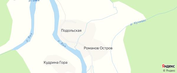 Карта деревни Тужиково в Архангельской области с улицами и номерами домов
