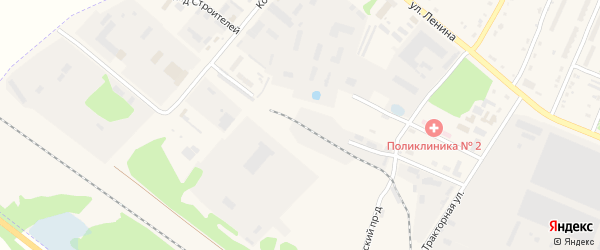 Проезд Строителей на карте Шумерли с номерами домов