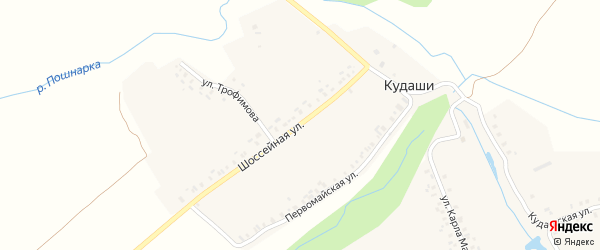 Кудашская улица на карте деревни Кудаши с номерами домов